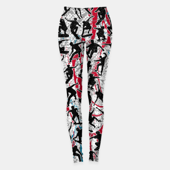 Miniatur Skater Retro Urban Graffiti Leggings, Live Heroes