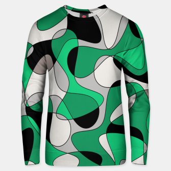 Thumbnail image of Abstract pattern - gray and green. Unisex sweater, Live Heroes