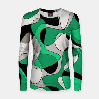 Thumbnail image of Abstract pattern - gray and green. Women sweater, Live Heroes