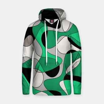 Thumbnail image of Abstract pattern - gray and green. Hoodie, Live Heroes