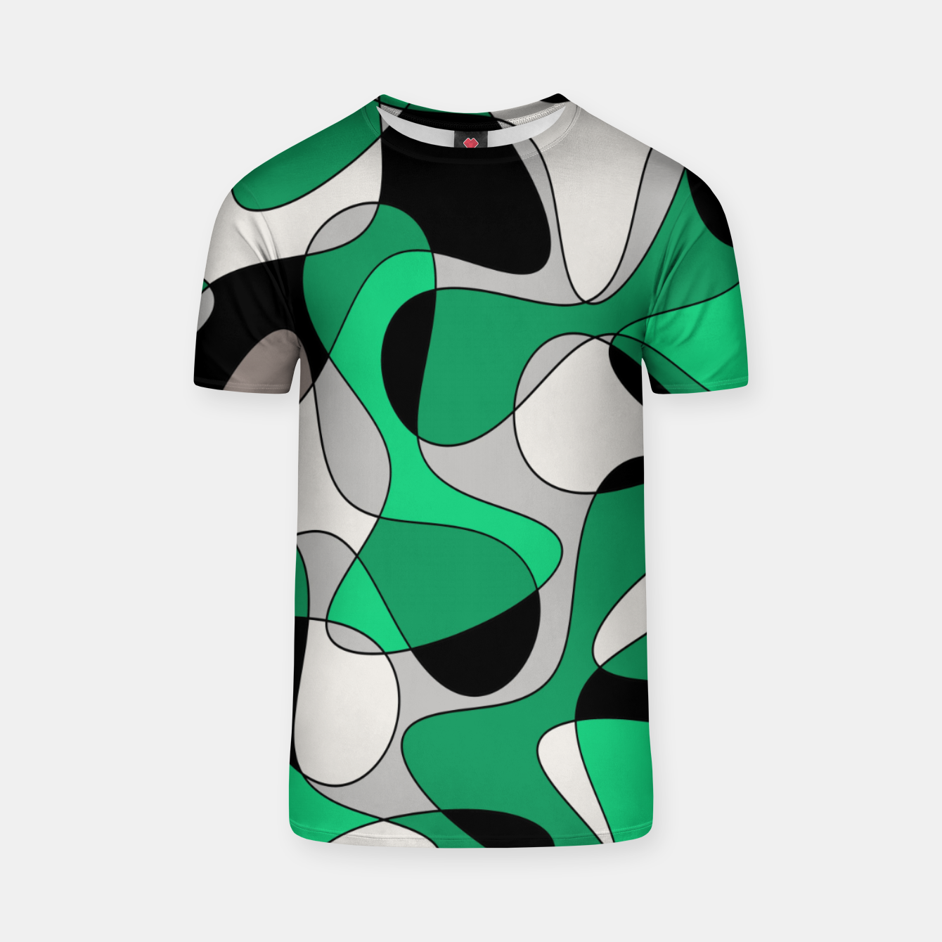 Zdjęcie Abstract pattern - gray and green. T-shirt - Live Heroes