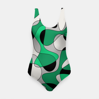 Thumbnail image of Abstract pattern - gray and green. Swimsuit, Live Heroes