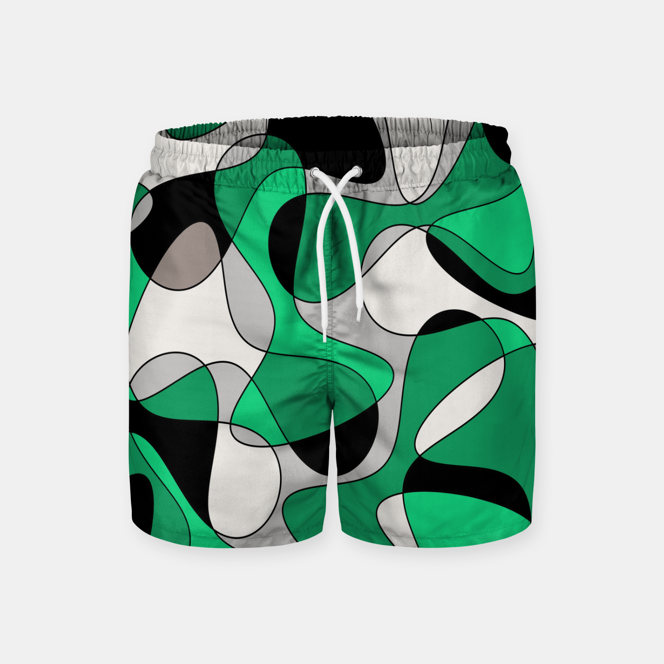 Zdjęcie Abstract pattern - gray and green. Swim Shorts - Live Heroes