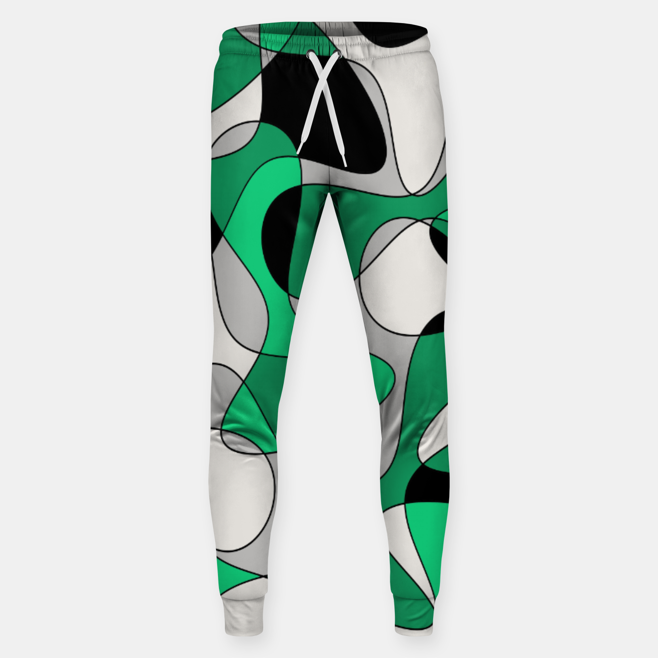 Zdjęcie Abstract pattern - gray and green. Sweatpants - Live Heroes
