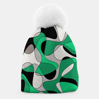 Thumbnail image of Abstract pattern - gray and green. Beanie, Live Heroes