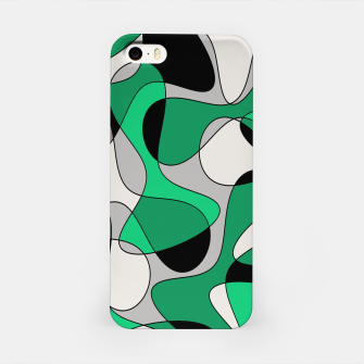 Thumbnail image of Abstract pattern - gray and green. iPhone Case, Live Heroes
