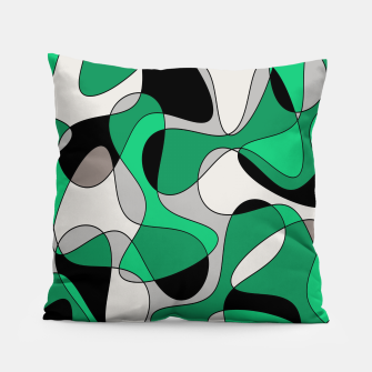 Thumbnail image of Abstract pattern - gray and green. Pillow, Live Heroes