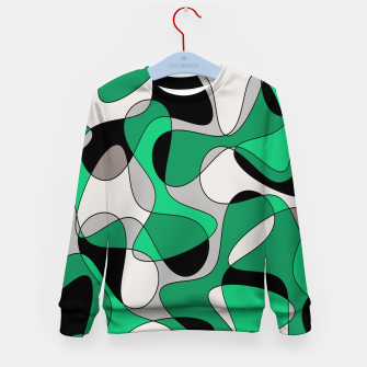 Thumbnail image of Abstract pattern - gray and green. Kid's sweater, Live Heroes