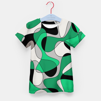 Thumbnail image of Abstract pattern - gray and green. Kid's t-shirt, Live Heroes