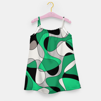 Thumbnail image of Abstract pattern - gray and green. Girl's dress, Live Heroes