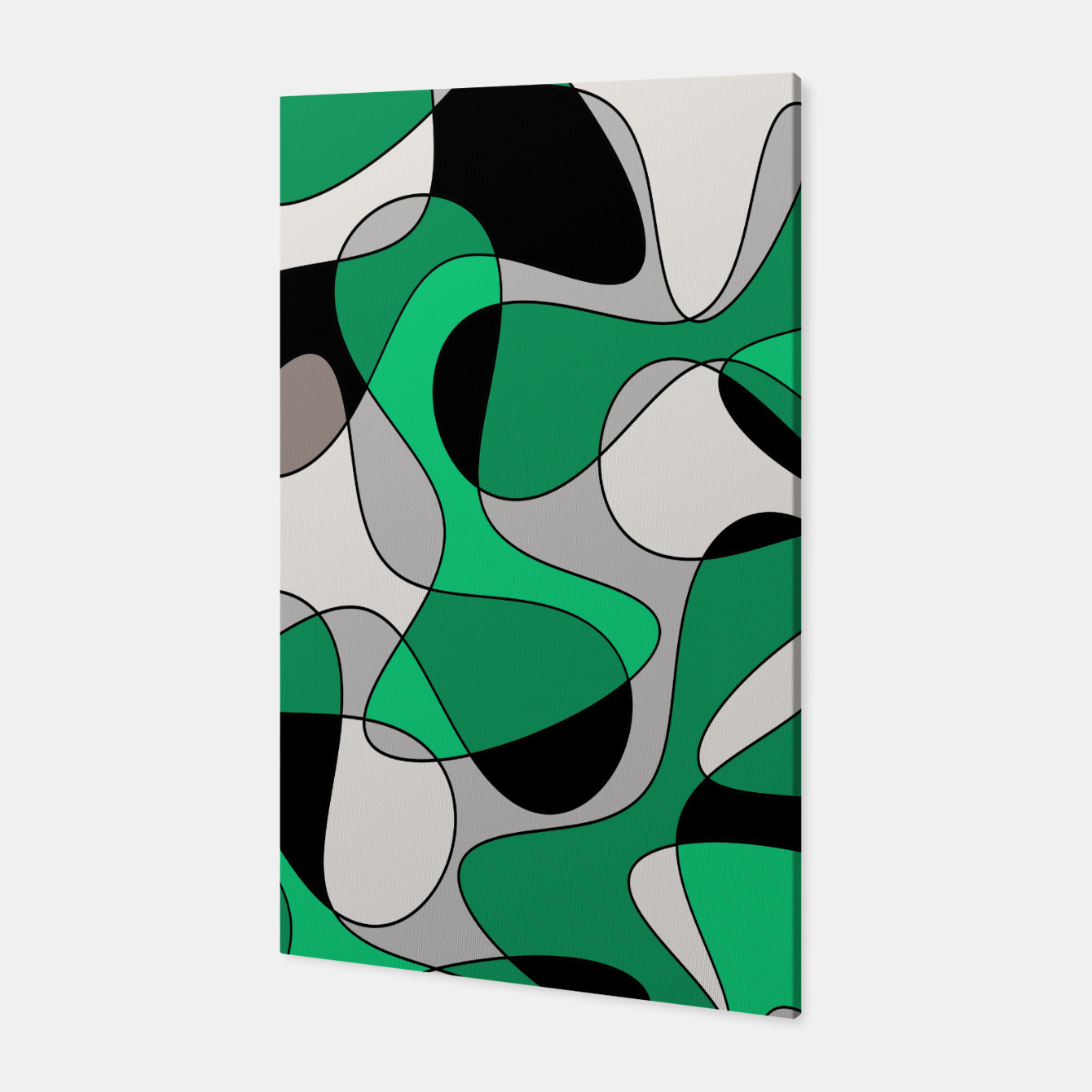 Image of Abstract pattern - gray and green. Canvas - Live Heroes