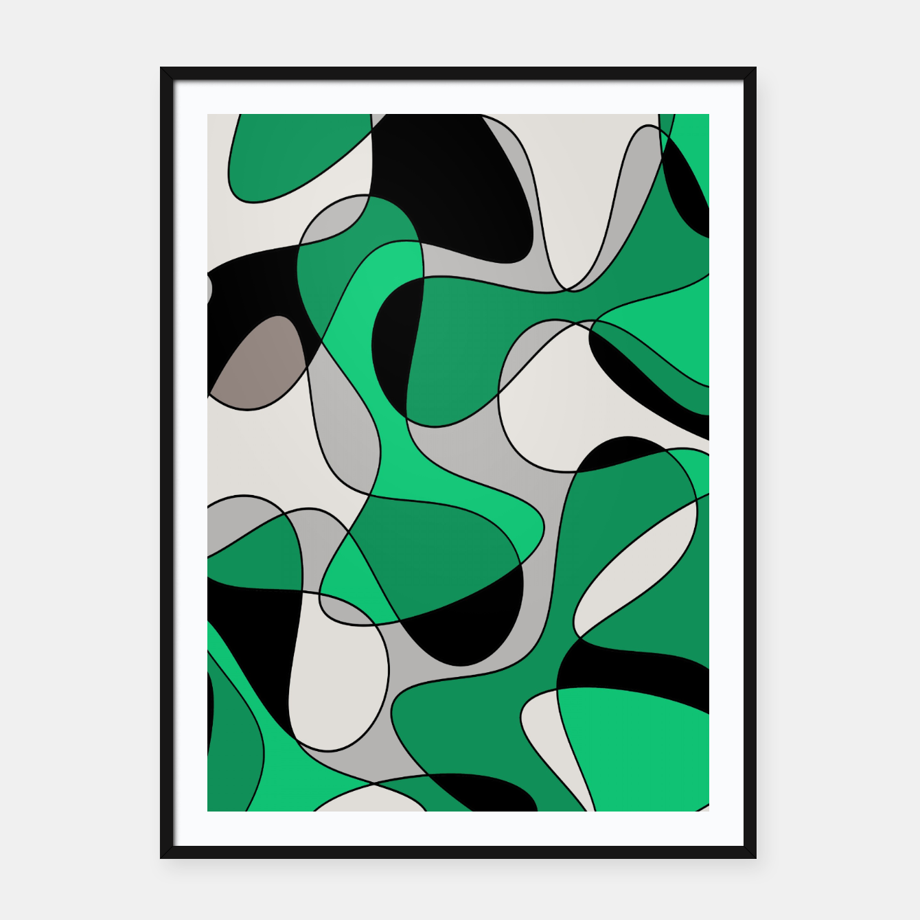 Zdjęcie Abstract pattern - gray and green. Framed poster - Live Heroes