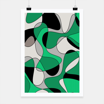 Miniature de image de Abstract pattern - gray and green. Poster, Live Heroes