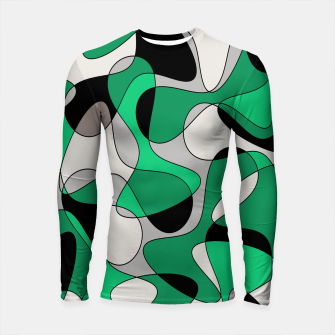Thumbnail image of Abstract pattern - gray and green. Longsleeve rashguard , Live Heroes