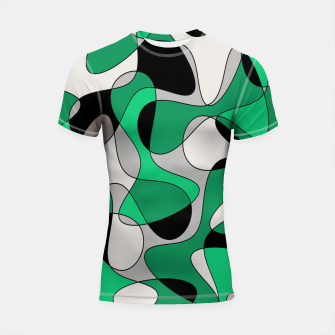 Thumbnail image of Abstract pattern - gray and green. Shortsleeve rashguard, Live Heroes
