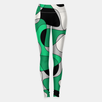 Thumbnail image of Abstract pattern - gray and green. Leggings, Live Heroes