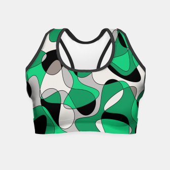 Thumbnail image of Abstract pattern - gray and green. Crop Top, Live Heroes