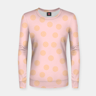 Miniatur Pastel Dots With Points Women sweater, Live Heroes