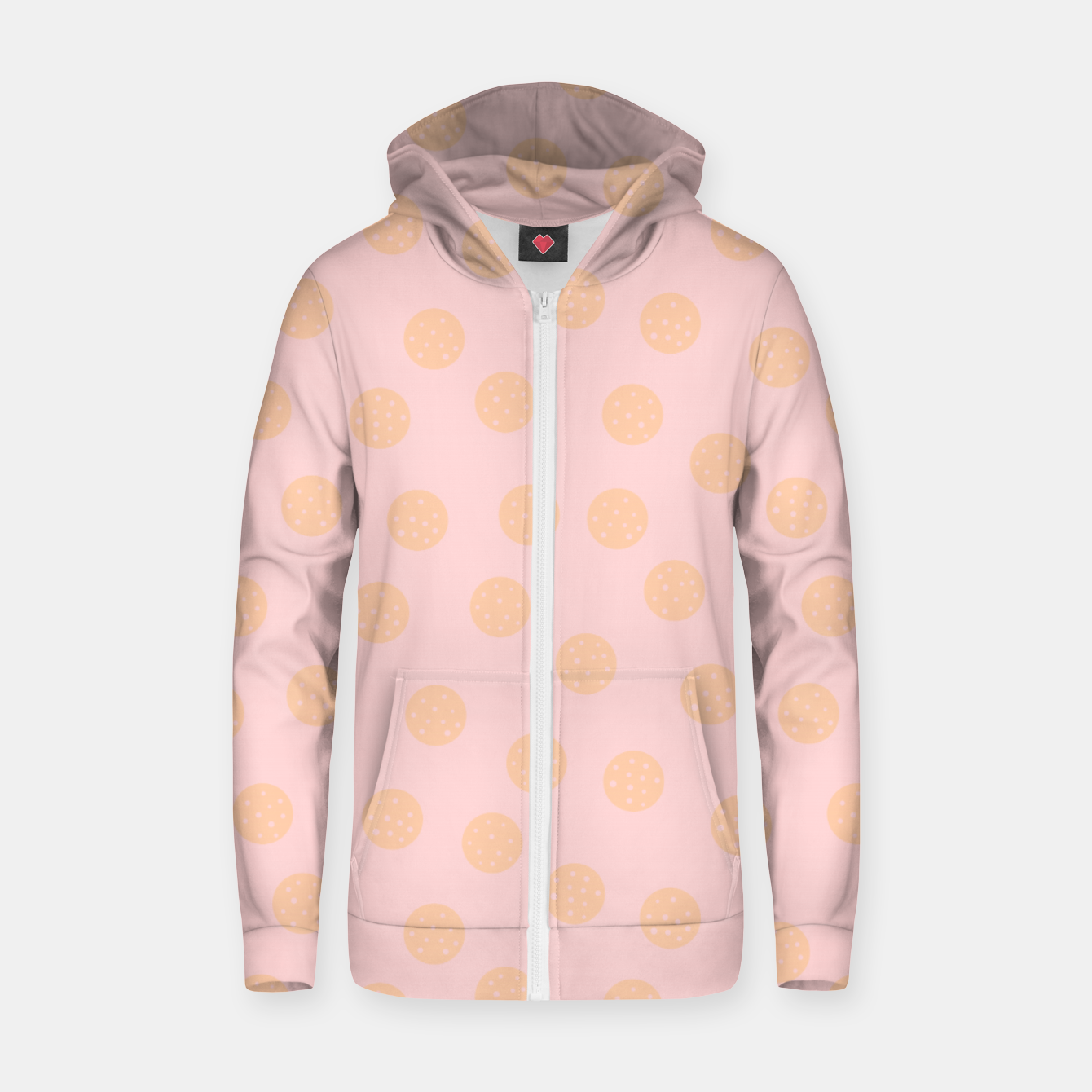 Image of Pastel Dots With Points Zip up hoodie - Live Heroes
