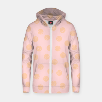 Miniatur Pastel Dots With Points Zip up hoodie, Live Heroes