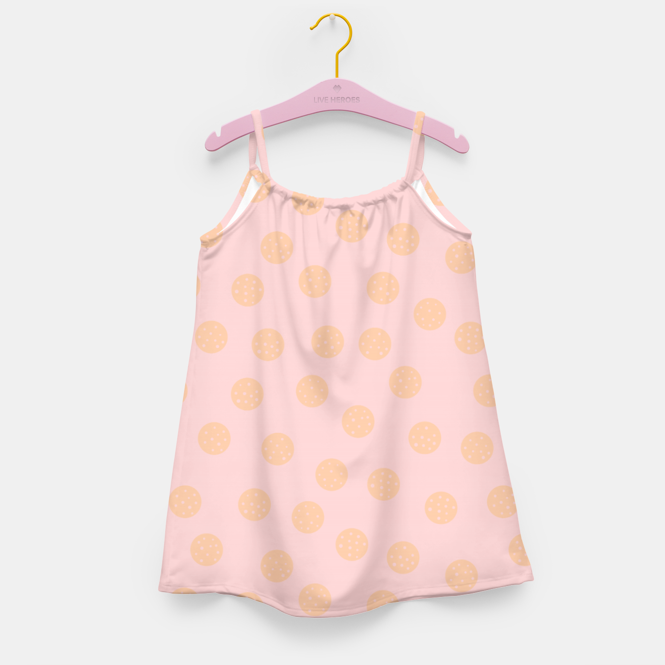 Image of Pastel Dots With Points Girl's dress - Live Heroes