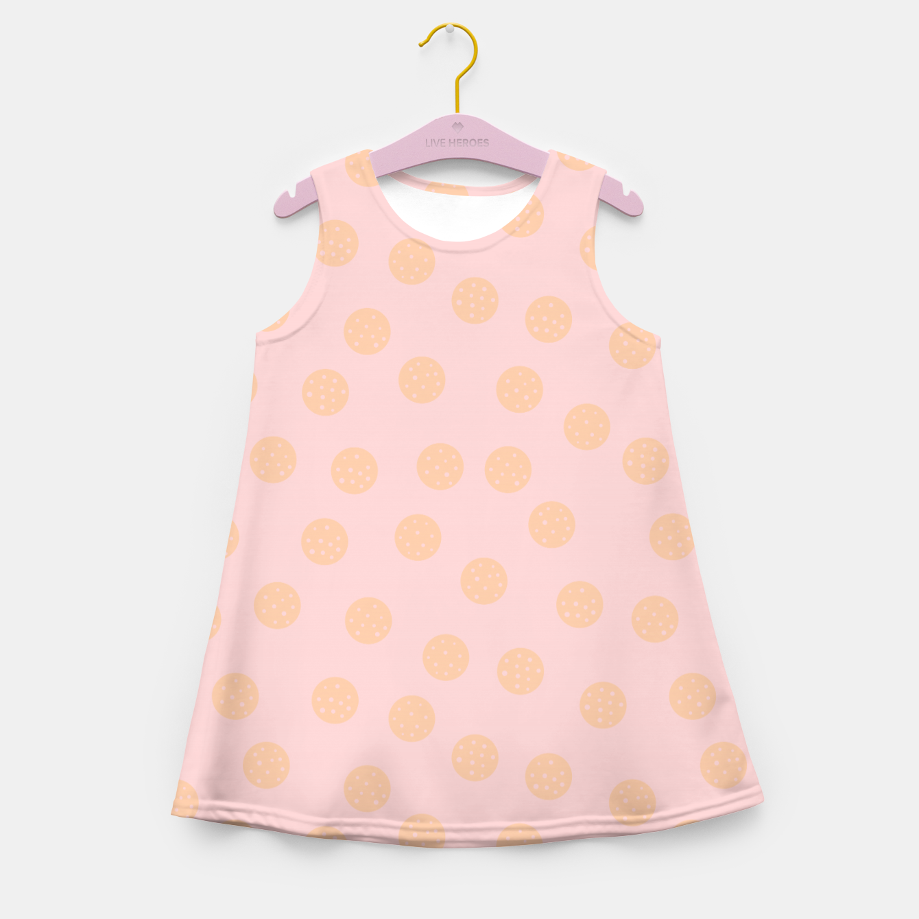 Image of Pastel Dots With Points Girl's summer dress - Live Heroes