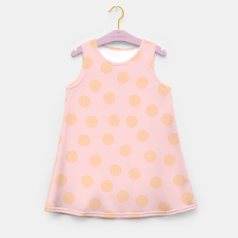 Miniatur Pastel Dots With Points Girl's summer dress, Live Heroes