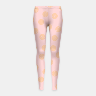Miniatur Pastel Dots With Points Girl's leggings, Live Heroes