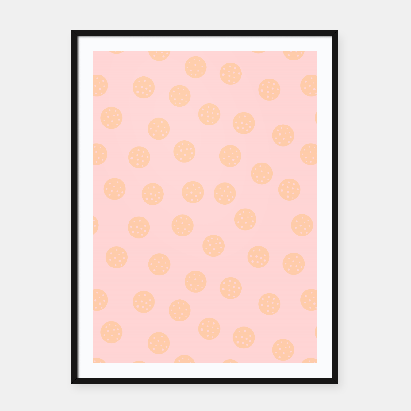 Image of Pastel Dots With Points Framed poster - Live Heroes