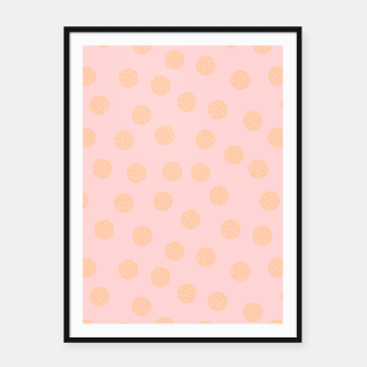 Miniatur Pastel Dots With Points Framed poster, Live Heroes