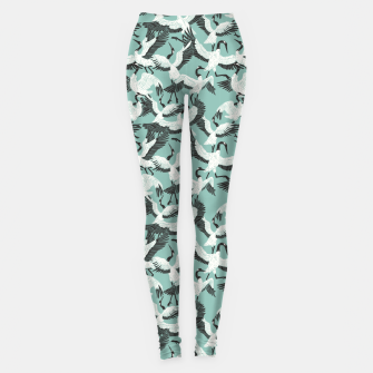 The ritual of the crane dance 3 Leggings miniature