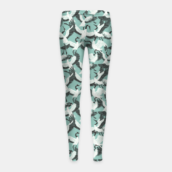 The ritual of the crane dance 3 Leggings para niña miniature