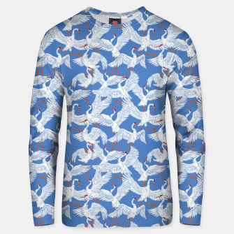 Flock of crane birds 10 Sudadera unisex miniature