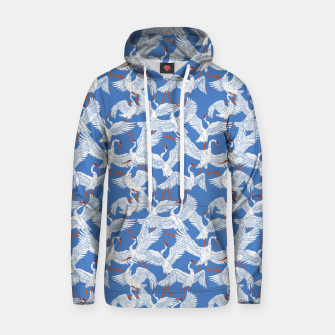 Flock of crane birds 10 Sudadera con capucha miniature