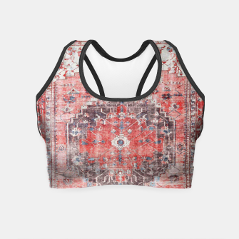 Floral Traditional Moroccan Artwork  Crop Top thumbnail image