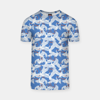 Flock of crane birds 10 Camiseta thumbnail image