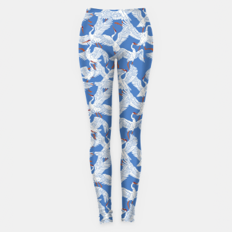 Flock of crane birds 10 Leggings miniature