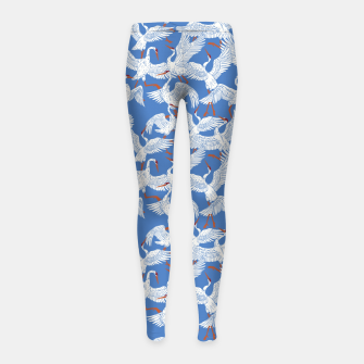 Flock of crane birds 10 Leggings para niña thumbnail image