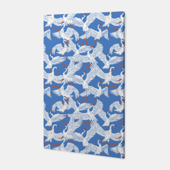 Flock of crane birds 10 Canvas miniature