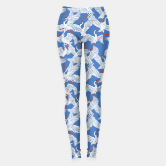 Flock of crane birds 10 Leggings thumbnail image