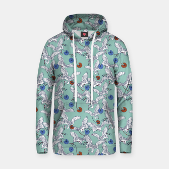 Flock of asian cranes birds Sudadera con capucha miniature