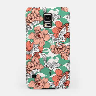 Thumbnail image of Cranes on flowers Carcasa por Samsung, Live Heroes