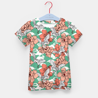 Thumbnail image of Cranes on flowers Camiseta para niños, Live Heroes