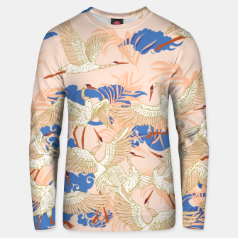 Thumbnail image of Cranes dance tropical II Sudadera unisex, Live Heroes