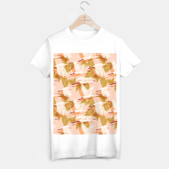Miniatur Flock of crane birds pink I Camiseta Regular, Live Heroes