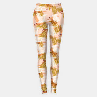 Miniatur Flock of crane birds pink I Leggings, Live Heroes