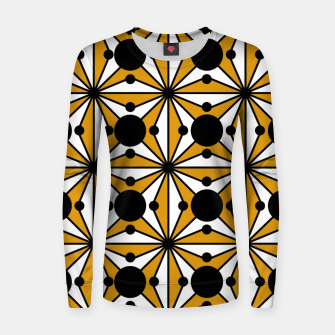 Thumbnail image of Abstract geometric pattern - bronze, black and white. Women sweater, Live Heroes