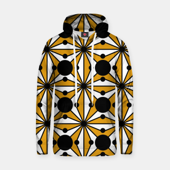 Thumbnail image of Abstract geometric pattern - bronze, black and white. Hoodie, Live Heroes