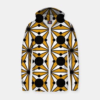 Thumbnail image of Abstract geometric pattern - bronze, black and white. Zip up hoodie, Live Heroes
