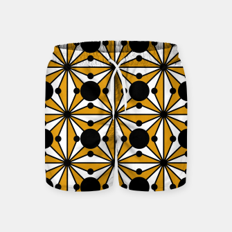 Thumbnail image of Abstract geometric pattern - bronze, black and white. Swim Shorts, Live Heroes